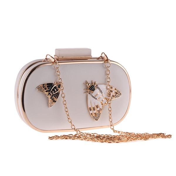 TANGSONGGUCI Schmetterling Metall Frauen Abendtasche Kleine Party Hochzeitstag Kupplung Schulter Weibliche Handtaschen