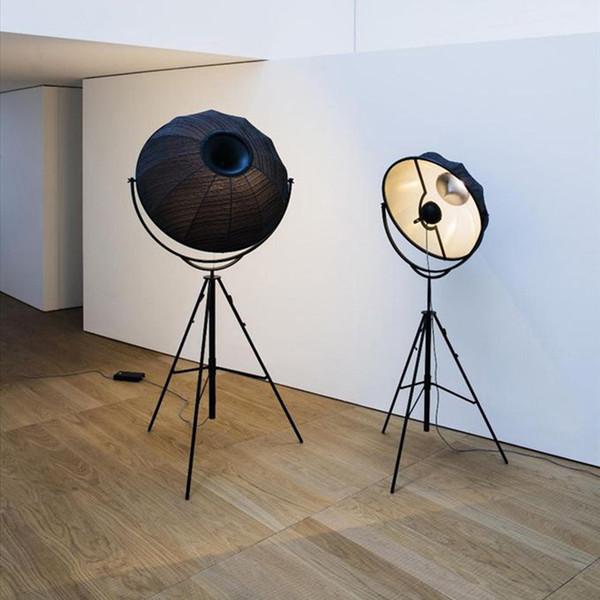 Modern Floor Lamp Italy Designer Standing Floor Light Fixture Living Room Study Fabric Lamshade Lamps
