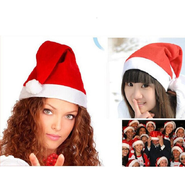 Santa Claus Hat Red Christmas Cosplay Hats Adults Kids Christmas Party Xmas Dress Up Caps DHL FREE