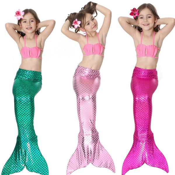 Cute 17 Design Girls Bikini Mermaid Tail Swim Suit Dress Infant Kids Swimsuit Swimwear Bathing Suits Summer Swimwear Costumes