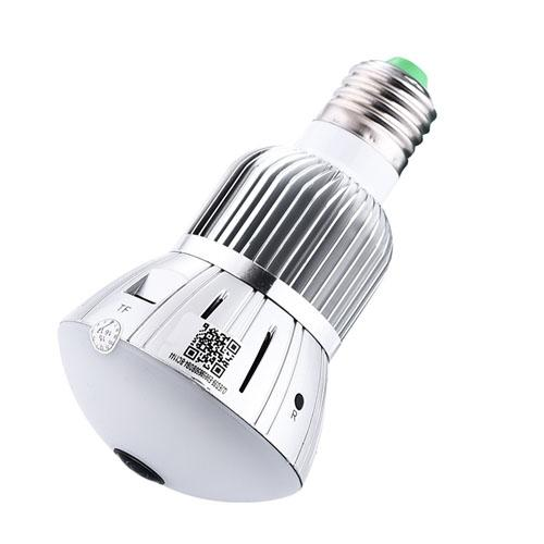 free shipping Q88 1296P HD WIFI wireless Panorama 360 Degree Bulb camera Video recorder Max 128GB