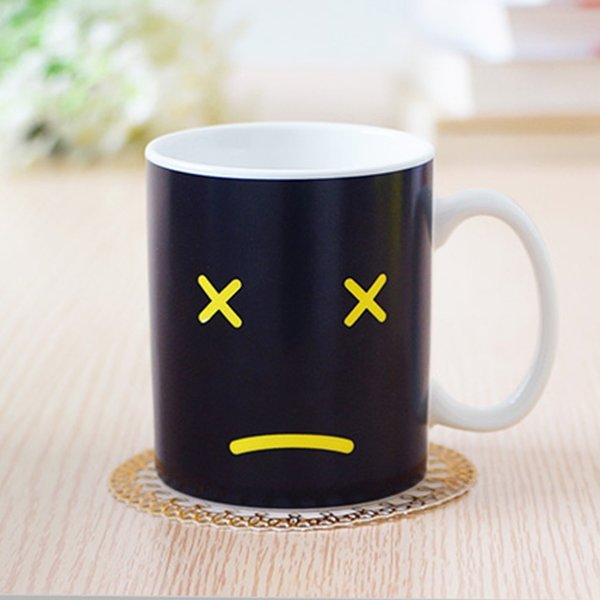 Useful Heat Changing Mug Color Cup Coffee Sensitive Home House Magic Tea Hot Reactive Cold Ceramic Coffee Tea Cup Drop Shipping