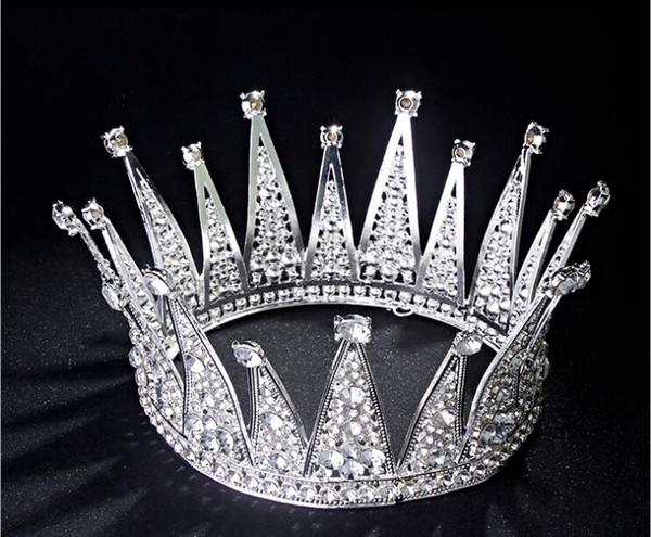 New Luxury Vintage Gioielli Lady diadema della parte superiore accessori dei capelli Hairpieces nuziale di cristallo fascia di strass moda