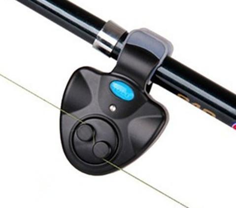 Alarme da mordida da pesca Ao Ar Livre LED Clipe Luz Vara De Pesca Alarme Da Mordida Eletrônica Fish Ringer Bateria frete grátis