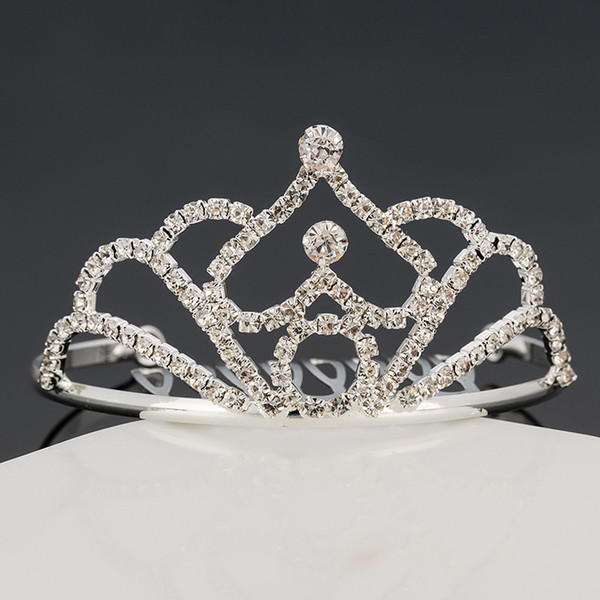 Girls Tiaras Crowns With Rhinestones Jewelry Tiaras For Birthday Party Performance Pageant Crystal Wedding Headpieces Accessories #BW-T076