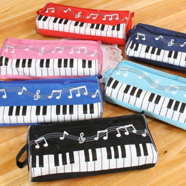 Musical pencilcase piano Cosmetic Cases piano Pencil Bag for Chidren School pencil Case Keyboard Pen Box Holder