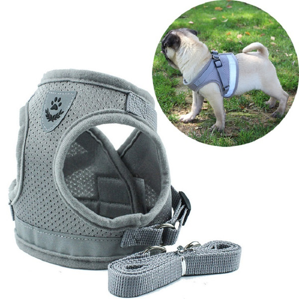 Hot Sale Reflective Safety Pet Dog Harness with Leash for Small Medium Dogs Cat Harnesses Vest Puppy Chest Strap Pug Chihuahua Bulldog