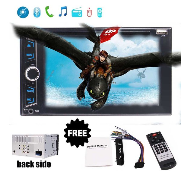 """Car Stereo Bluetooth FM Radio in Dash 6.2"""" car DVD Player Double Din USB/AUX-in Hands-Free Calling Steering Control Rear View Camera"""