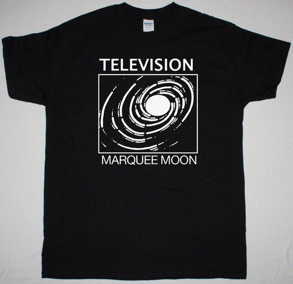 TELEVISION MARQUEE MOON MENS BLACK CAMISETA THE STOOGES NEW YORK DOLLS MAGAZINE