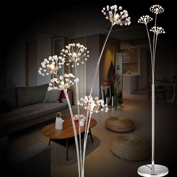 clear crystal floor lamp g4 led dandelion floor light for bedroom living room