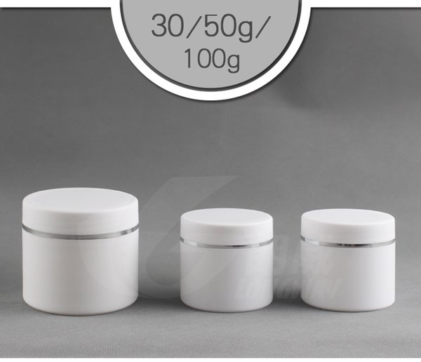 30G 50G 100G Plastic frost Cream Jars Empty Cosmetic Bottles Empty Plastic Jar Pot Containers Mask exfoliant Cosmetic Cream