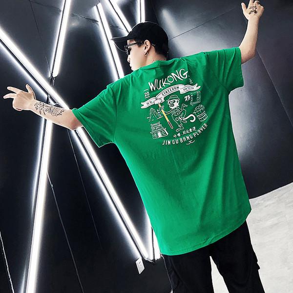 2018 Funny Printed Hip Hop T-Shirt Short Sleeves Oversized Casual Tshirt Streetwear Clothing street Hi-Fashion Swag Summer Coat