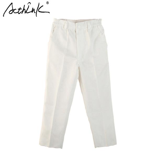 ActhInK Nouveau Garçon Blanc Printemps Solide Costume Pantalon Marque Enfants Angleterre Style Pantalon De Mariage Formel pour Garçons Noir Costume Pantalon, MC019