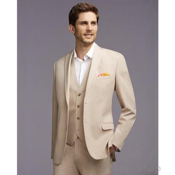2017 Nuovi Groomsmen Notch Risvolto Smoking Smoking Nero Slim Fit Uomo Suit Matrimonio Best Man Giacca uomo abiti (Giacca + Pantaloni + Vest)