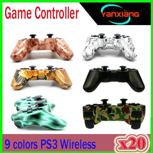 Bluetooth Wireless Gamepad Controller for Playstation 3 Game Controller for PS3 Double shock Dualshock Joystick 20PCS YX-PS-13