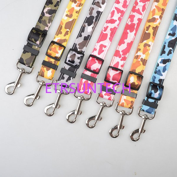 Leopard Print Camouflage Color Dog Pet Car Safety Seat Belt Harness Restraint Lead Adjustable Leash QW8148