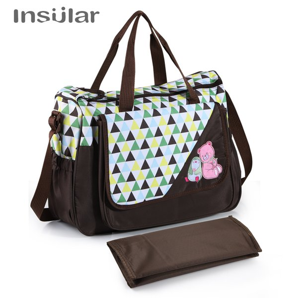 Insular Brand Baby Nappy Bags Diaper Bag Mother Shoulder Bag Large Capacity Maternity Mummy Handbag Waterproof Baby Stroller