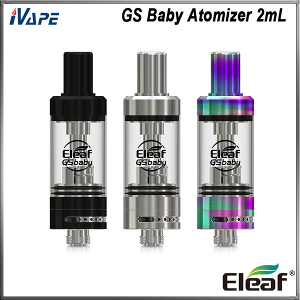 Eleaf GS Baby Atomizer 2ml with GS Air 0.75ohm 1.5ohm Coil 8-25W Refined Airflow System Solid Structure Tank 100% Original