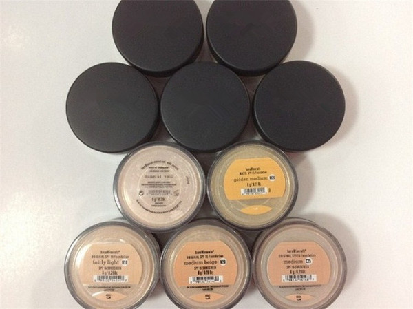 top popular Minerals Face powder original Foundation loose powder 8g C10 fair 8g N10 fairly light 8g medium C25 8g medium beige N20 9g mineral veil 2021