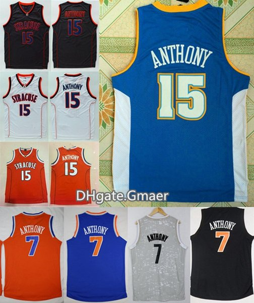Shop Basketball Jerseys Online Mens Syracuse Orange Camerlo Anthony College Basketball Jerseys 15 Camerlo Anthony 7 Shirts Cheap University Stitched