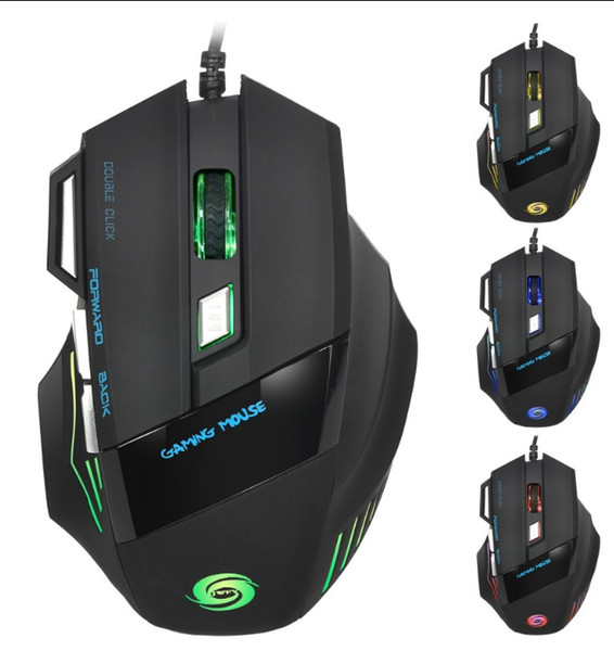 Venda quente Um rato mostra todas as cores 2400 DPI 4D botões led back light mouse wired gaming mouse usb wired game mice para laptops desktop
