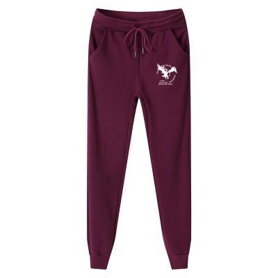 Cotton Homme Plus Size M-5XL Mens Sweat Pants Fashion Eagle Printed Thick Fleece Casual Jogger Pants Long Trousers