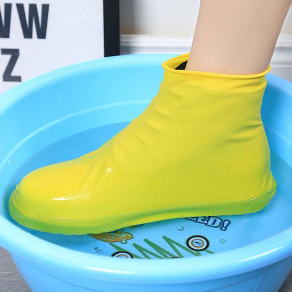 Summer Antiskid Waterproof Raincoat Set Rain Coat Shoe Boots Cover Water Playing Shoes Latex Antiskid and Rain Proof Shoe Cover