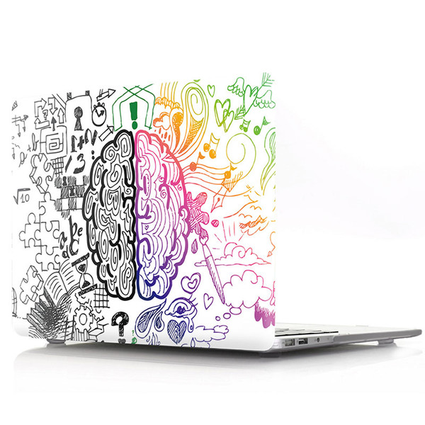 """Graffiti Left and Right Brain Rubberized Hard Shell Case Cover,Plastic hard shell for macbook12""""/15.4""""pro/air11"""