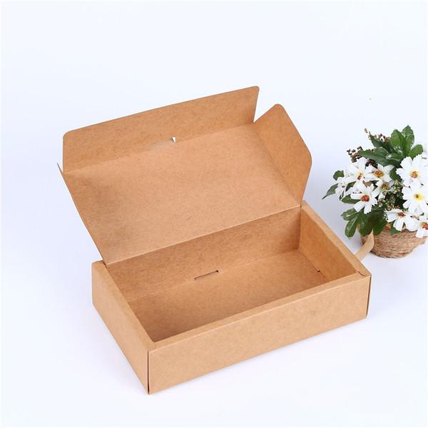 large Kraft paper gift paper box retail packaging craft paper box gift tea box 25*14*6cm LZ1857