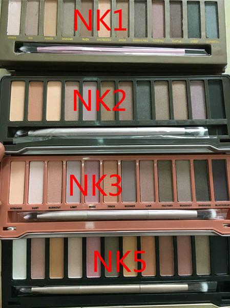 Sıcak çıplak palet 1st 2nd 3rd Nesil Makyaj Ile Yeni 12 Renkler Kozmetik Pırıltılı Mat Göz Farı Fırça M301 1 adet