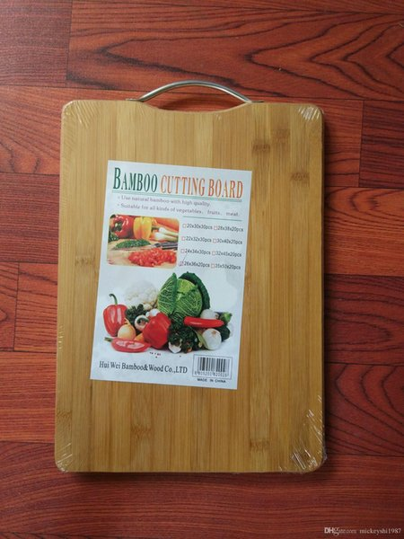 Kitchen Cooking Chop Board Cutting Board Food Slice Cut Chopping Block Bamboo 1.8 cm Thick Kitchen Supplies