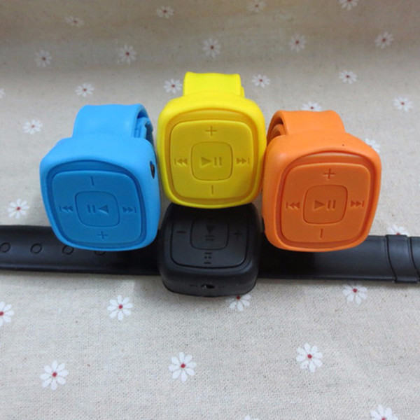 HESTIA Square Super Mini MP3 Walkman Player Music Media Vivavoce Clip Player multifunzione Sport Carino Candy Color Wristband MP3