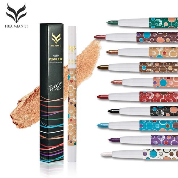 HUMIANLI 10 Renkler Eyeliner Kaş Glitter Gölge Dudak Göz Kalemi Kalem Makyaj Kozmetik Seti Suya Makyaj Eyeliner