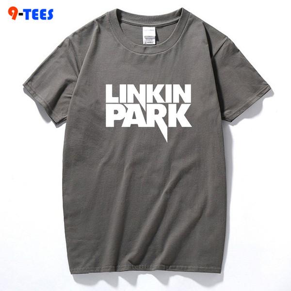 2018 Casual Männer Tops T-shirt LINKIN PARK Brief Drucken T-shirt Neue Mode Männer T-shirt Kurzen Ärmeln Hispter Weiche Kleidung