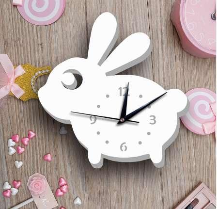 Ins горячие 3D молчаливые настенные часы милый кролик дизайн Nordic краткие часы лучше всего подходит для детей спальня настенные часы домашнего декора