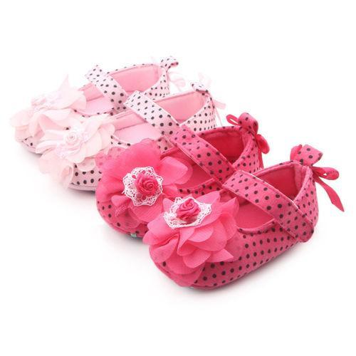 Baby Girls Princess Summer Lace Floral First Walkers Shoes Kids Newborn Girl Pram Soft Sole Shoes Prewalker Anti-slip Sneakers