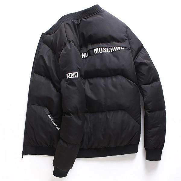 2018 New Style Winterjacke Männer Casual Slide Sportbekleidung F Männlichen Stehkragen Mantel Gepolsterte Verdicken Parkas