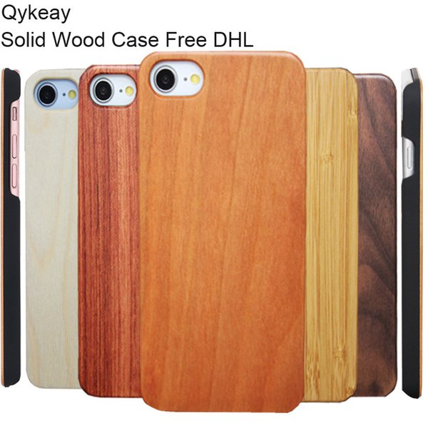 Super High Quality Wood Cell phone Case For Iphone 7 8 6 6s plus X 10 Anti-knock Wooden Bamboo with PC Back Cover Case for Samsung S9 S8 S7
