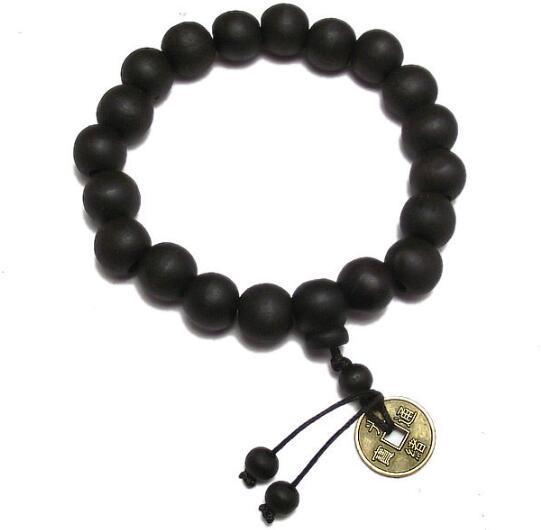 Gros-bouddhiste décor tibétain perles de prière bracelet bracelet ornement de poignet bois bouddha perles hommes bijoux religion charme bouddhiste tibet