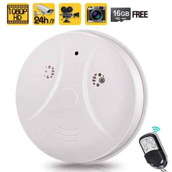 Free Shipping 1080P HD Home Security Camera Video Recorder Smoke Detector Fire Alarm Cam with Motion Activated and remote control