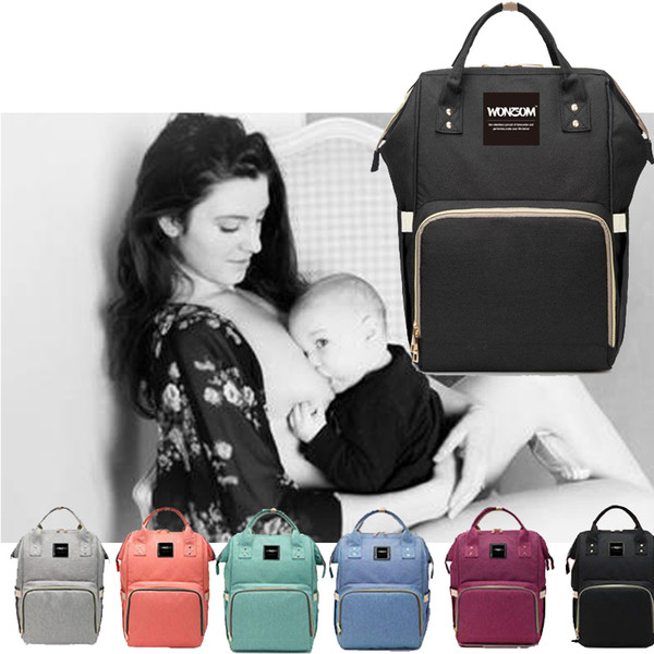 Retail Fashion Maternity Mummy Nappy Bag Brand Large Capacity Baby Bag Travel Backpack Desinger Nursing Diaper Bag Baby Care