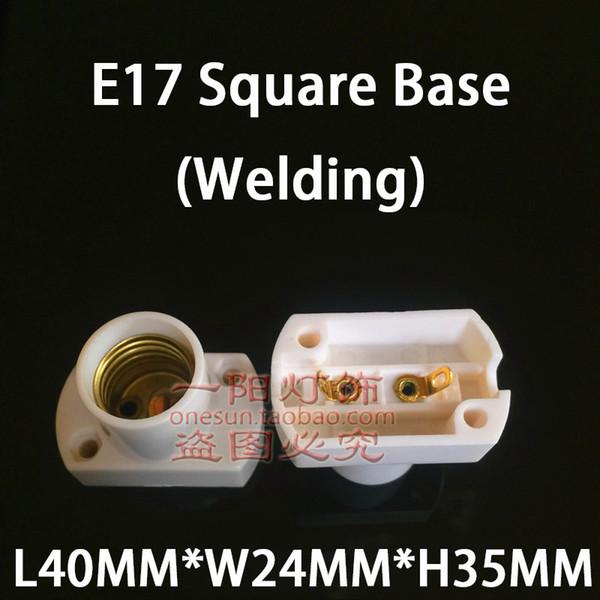 E17 White Square Base (Welding)