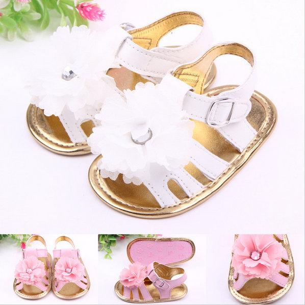 Summer Lovely Flower Baby Shoes Newborn Infants Prewalker Baby Girls Princess Shoes