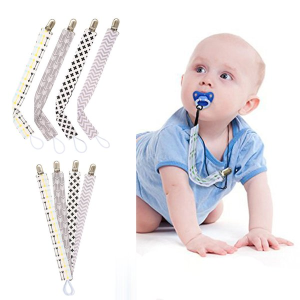 4pcs Nipple Holder Baby Pacifier Clips Chain Dummy Nipple Belt Teether Pacifier Holder Clip For Baby Safe Soother Chain Feeding