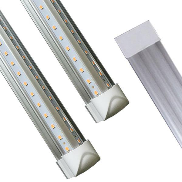 Shopping V-Shaped 8ft Led Tube Light T8 Integrated Led Tubes Double Sides SMD2835 Led Fluorescent Lights AC85-277V CE RoHS FCC