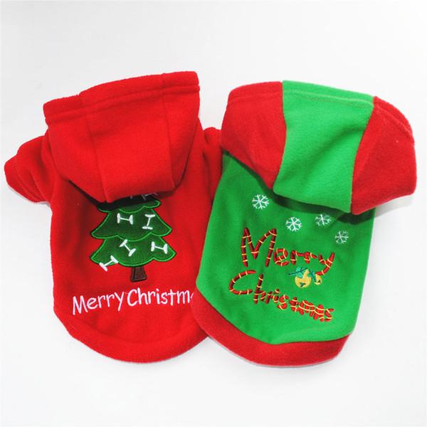 Roupa do cão Costomes Para O Natal de Ano Novo Árvore de Natal Outono Inverno Quente Blusas Grossas Para Smal Mediuml Grande Masculino Feminino cão