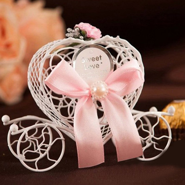 Romantic Cinderella Carriage Birthday Wedding Favours Candy Chocolate Christmas Sweet Sugar Favor Box Decorations Gift Boxes
