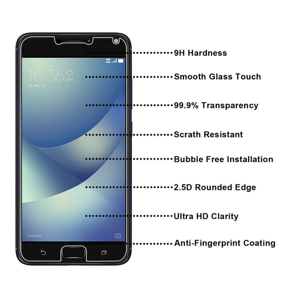 "ASUS ZenFone 4 Max PRO(5.5"" ZC554KL) Tempered Glass Screen Protectors Anti-Bubble Anti-Scratch Anti-Fingerprint Film For iPhone X XS XR XS"