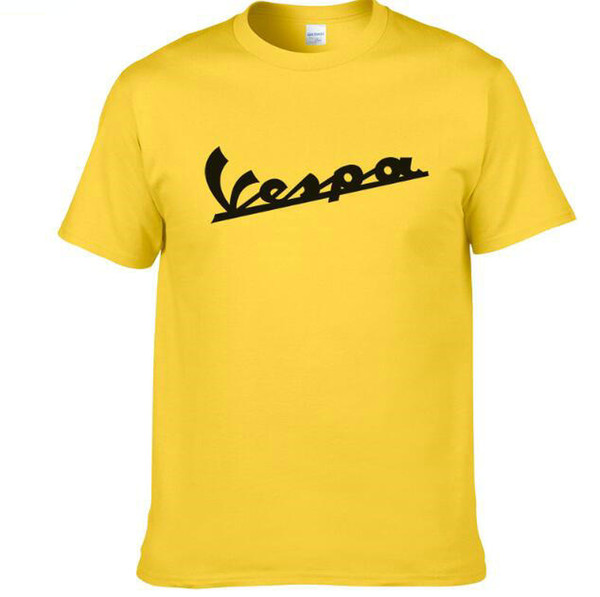 Vespa t shirt Anti wrinkle short sleeve gown Quick dry sport tees Colorful clothing Quality cotton Tshirt