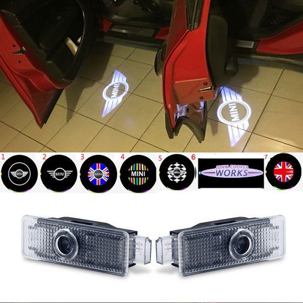 2 unids luces de bienvenida del coche luces del proyector Logo LED para Mini Cooper R55 R57 R58 R59 R60 Clubman Countryman S JCW F54 F55 F56 F57